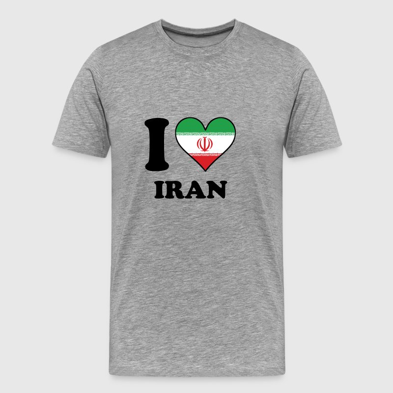 I Love Iran Iranian Flag Heart - Men's Premium T-Shirt