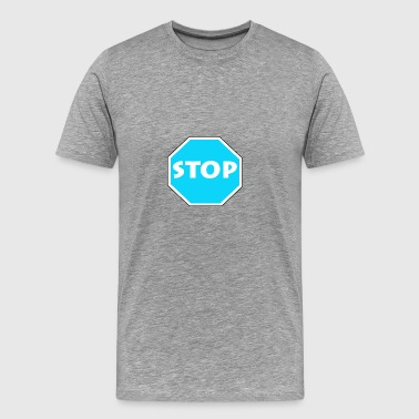 Stop - Blue - Men's Premium T-Shirt