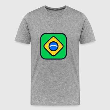 Brazil Flag In Rio brazil flag - Men's Premium T-Shirt