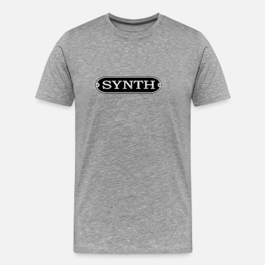 Synth-pop synth silver - Men's Premium T-Shirt