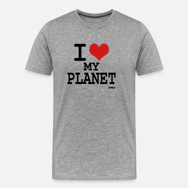 I Love My Planet i love my planet by wam - Men's Premium T-Shirt
