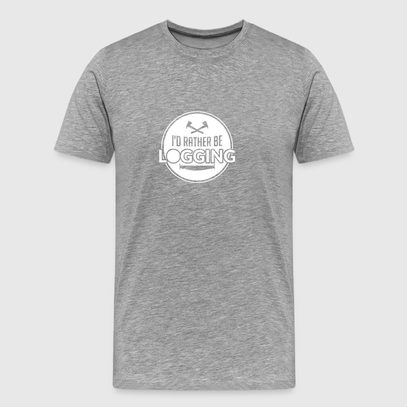 480392cfe1 Logger, Woodworker, Lumberjack Shirt, Sawdust - Men's Premium T-Shirt