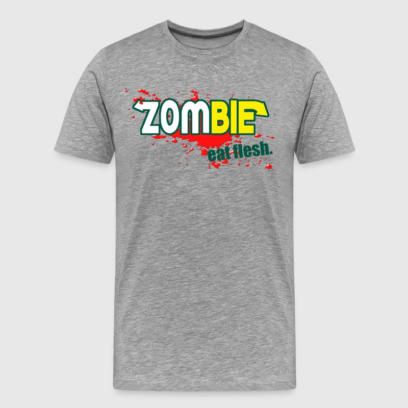 Zombie - Eat Flesh - Men's Premium T-Shirt