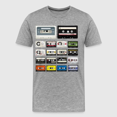 Audio Cassettes - Men's Premium T-Shirt
