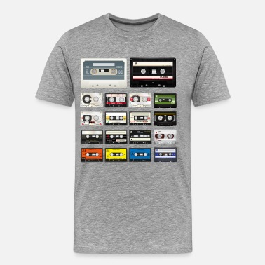 Old School Audio Cassettes - Men's Premium T-Shirt