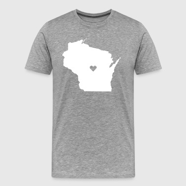 Wisconsin Love State T-shirt - Men's Premium T-Shirt