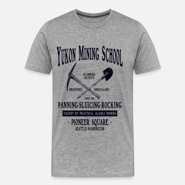 Gold Yukon Mining School - Men's Premium T-Shirt