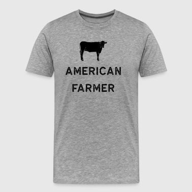 Hard Working Americans Farming Shirt American Farmer Black Cute Gift Farm Country USA - Men's Premium T-Shirt
