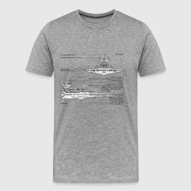 Star Destroyer diagram - Men's Premium T-Shirt