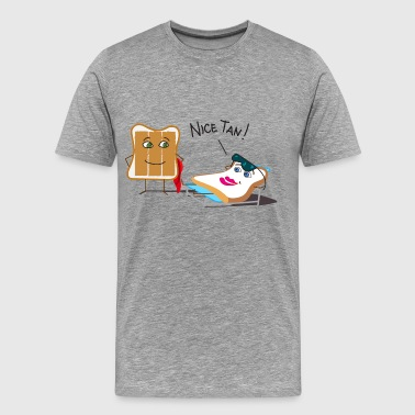 Toaster Tanning and Tanned Toast - Men's Premium T-Shirt