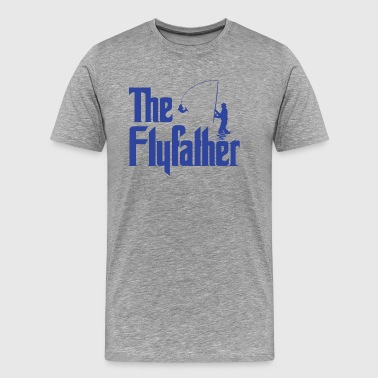 The Flyfather - Fly Fishing Dad - Men's Premium T-Shirt