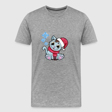 xmas kitty Cat Christmas Winter - Men's Premium T-Shirt