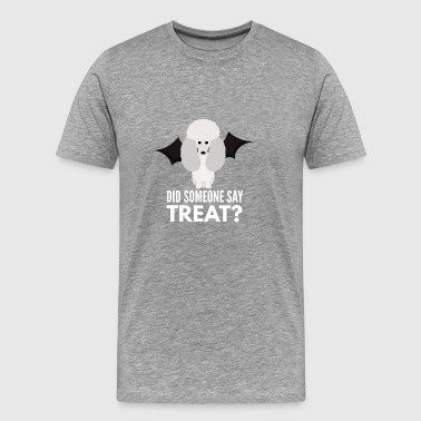 Standard Poodle Poodle Halloween Trick or Treat - Men's Premium T-Shirt