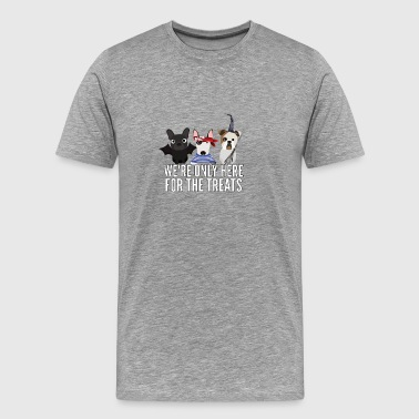 English Bull Terriers Halloween Trick or Treat - Men's Premium T-Shirt