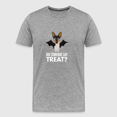 English Toy Terrier Halloween Trick or Treat - Men's Premium T-Shirt
