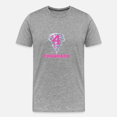 Old Phone Cute funny fourth birthday fournado girls Design - Men's Premium T-Shirt