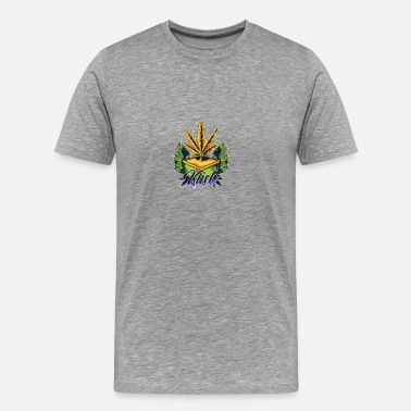 Arte Marijuana Kush Awesome Abstract Art Marijuana Weed - Men's Premium T-Shirt