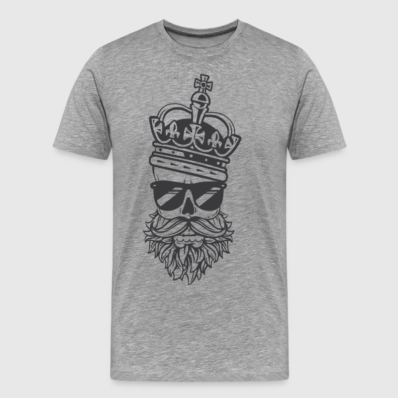 Beard King Dad - Men's Premium T-Shirt