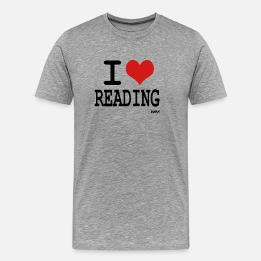 Reading i love reading by wam - Men's Premium T-Shirt