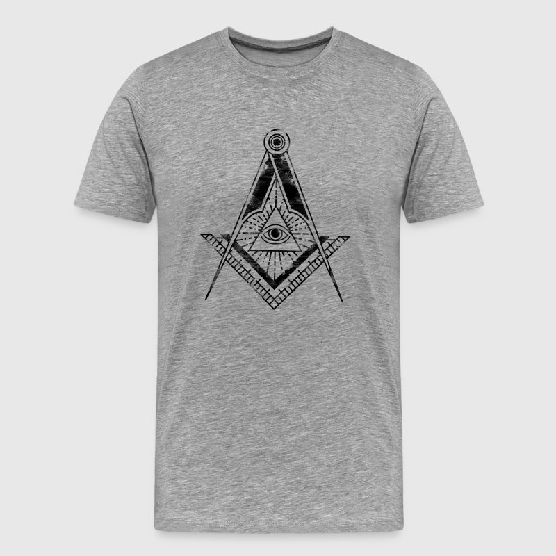 All Seeing Eye (Faded Black) - Men's Premium T-Shirt