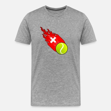 Switzerland Tennis Fireball Tennis Switzerland - Men's Premium T-Shirt