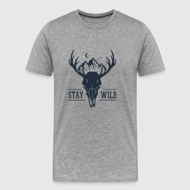 Live Free Stay Wild - Wanderlust collection - Men's Premium T-Shirt