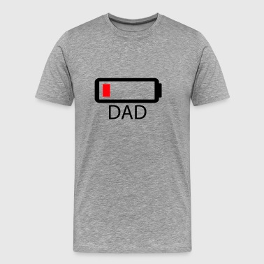 Battery Low Dad - Men's Premium T-Shirt
