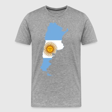 Argentina Womens Map of Argentina - Men's Premium T-Shirt