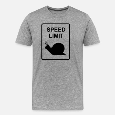 Speed Limit - Snail - Men's Premium T-Shirt