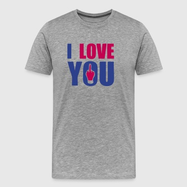 Fuck I Love You i love you fuck - Men's Premium T-Shirt