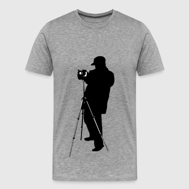 Silhouette Of A Photographer Photographer with camera silhouette - Men's Premium T-Shirt