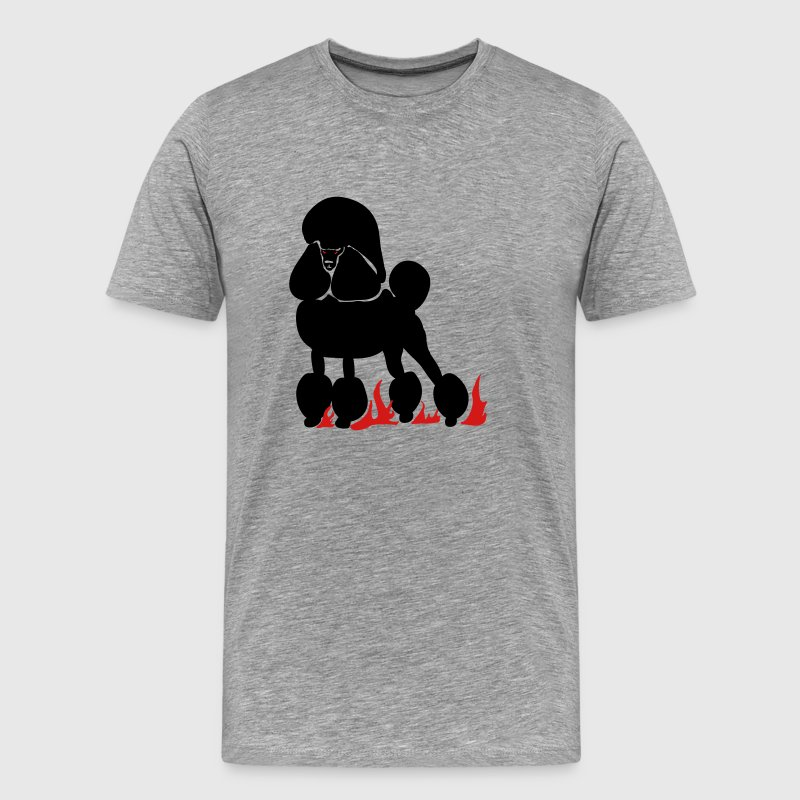 Mephistopheles, the Demon Poodle - Men's Premium T-Shirt
