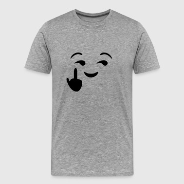 Fuck you  - emoticon - smiley - Men's Premium T-Shirt