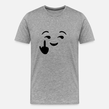 Smiley Fuck You Fuck you  - emoticon - smiley - Men's Premium T-Shirt
