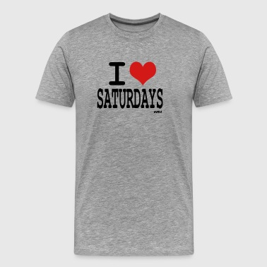 Saturday Love i love saturdays by wam - Men's Premium T-Shirt