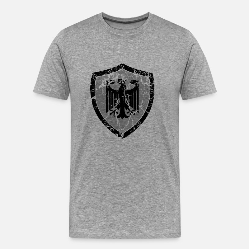 Cccp T-Shirts - German Eagle Shield - Men's Premium T-Shirt heather gray