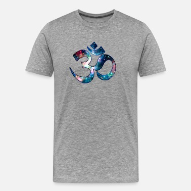 Om Space OM, Sound of Universe, Symbol Evolution - Men's Premium T-Shirt