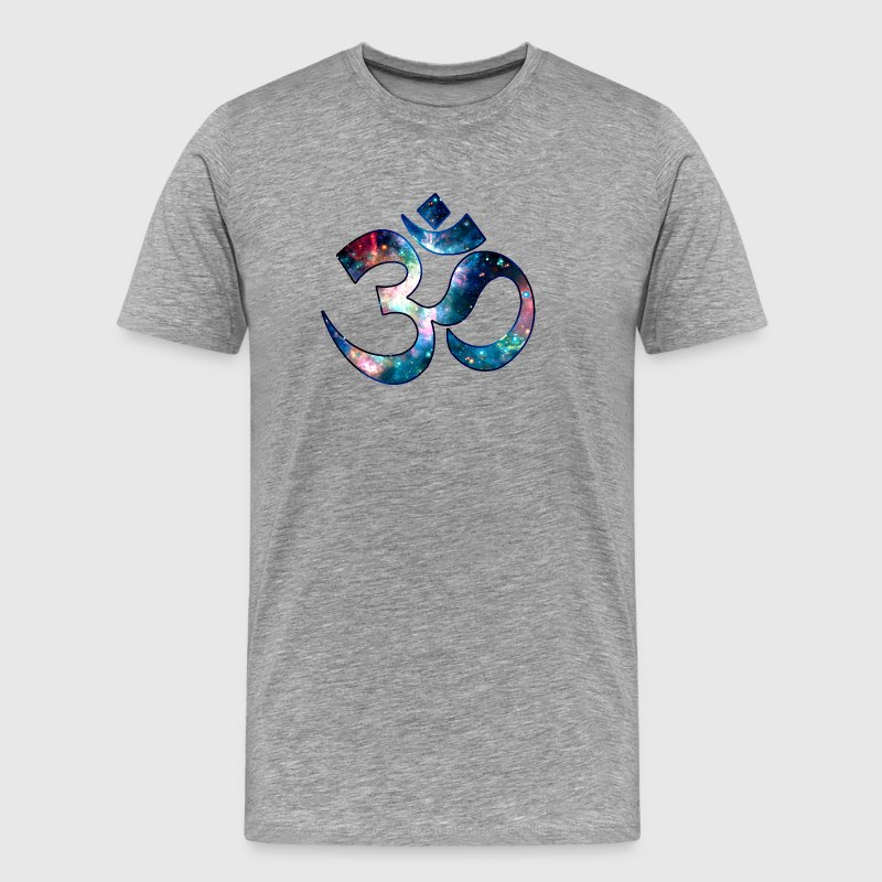 Space OM, Sound of Universe, Symbol Evolution - Men's Premium T-Shirt