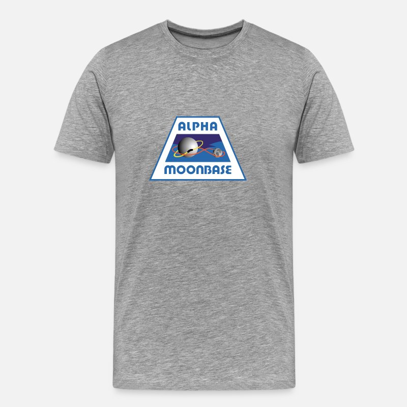 Science T-Shirts - Moonbase Alpha Crest - Men's Premium T-Shirt heather gray