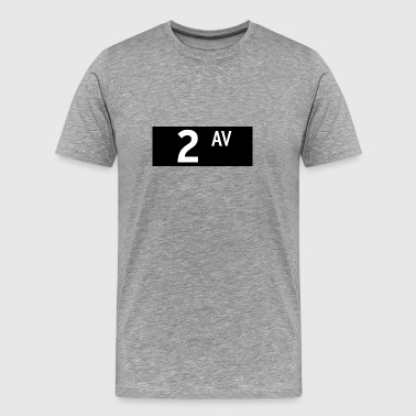 Bowery 2nd Avenue New York City - Men's Premium T-Shirt