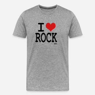 I Love Rock i love rock - Men's Premium T-Shirt