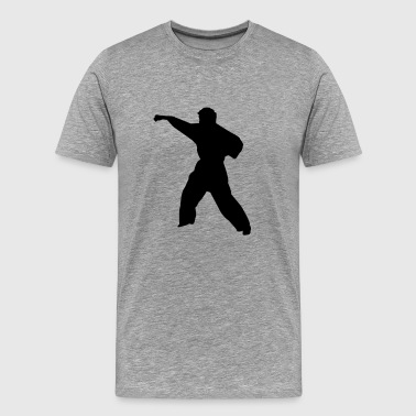 Karate fighter silhouette 6 - Men's Premium T-Shirt