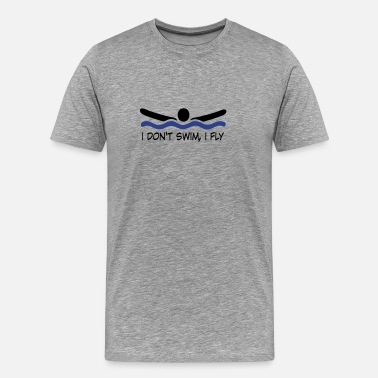 Swimming Dad swimming - Men's Premium T-Shirt