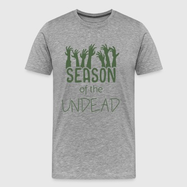 Halloween Zombie gift idea costume undead hands - Men's Premium T-Shirt