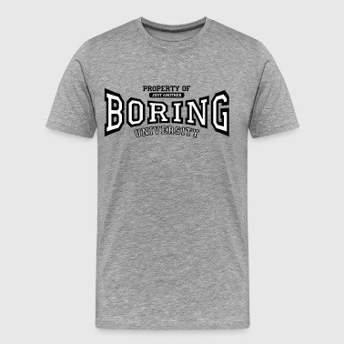 just another boring university - Men's Premium T-Shirt
