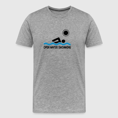 open water swimming - Men's Premium T-Shirt
