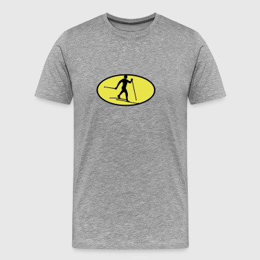 Cross-country skiing icon - Men's Premium T-Shirt