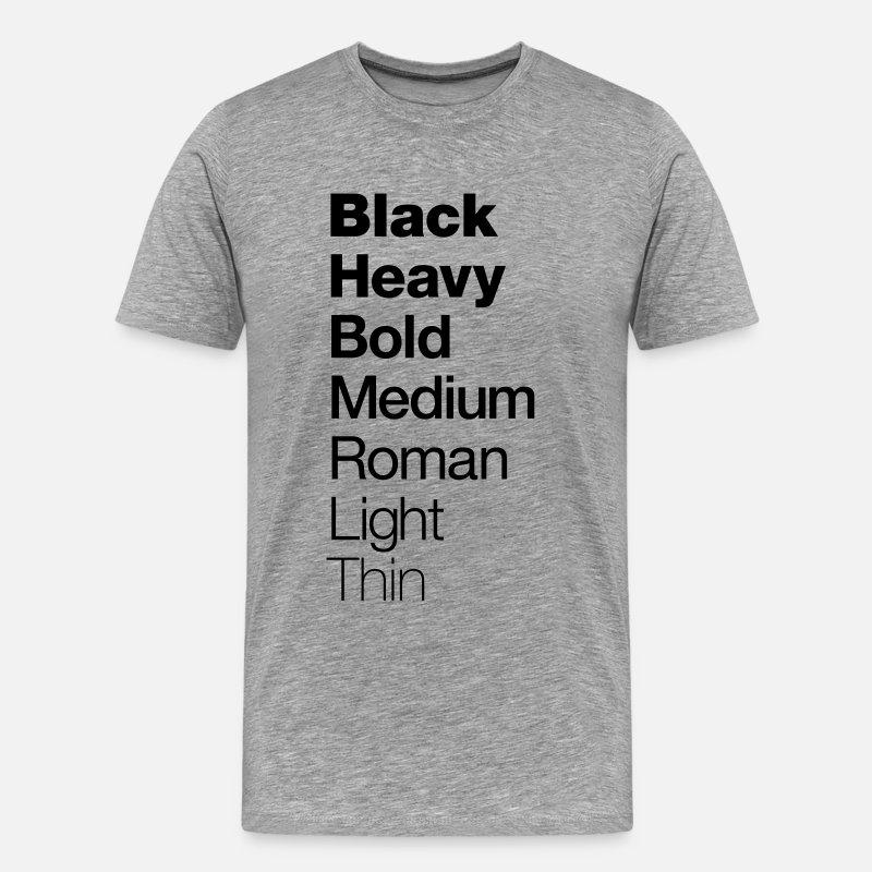 Graphic Design T Shirt Helvetica Men S Premium T Shirt Heather Gray