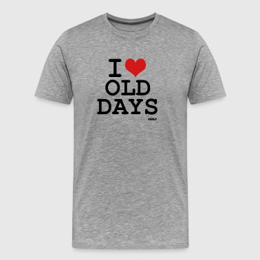 I Love Oldies i love old days by wam - Men's Premium T-Shirt