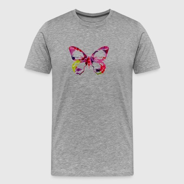 Collage artTS collage art BUTTERFLY (pinks/greens) pinkz - Men's Premium T-Shirt